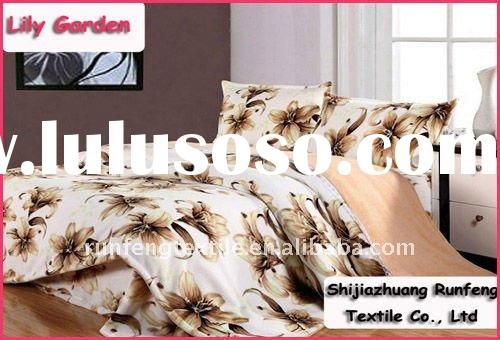 Printed Coral fleece bedding sets (duvet cover,blanket,pillow covers)
