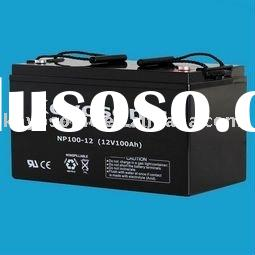 Professional AGM Sealed Lead Acid Battery for UPS Back-Up with NP series-12V100AH