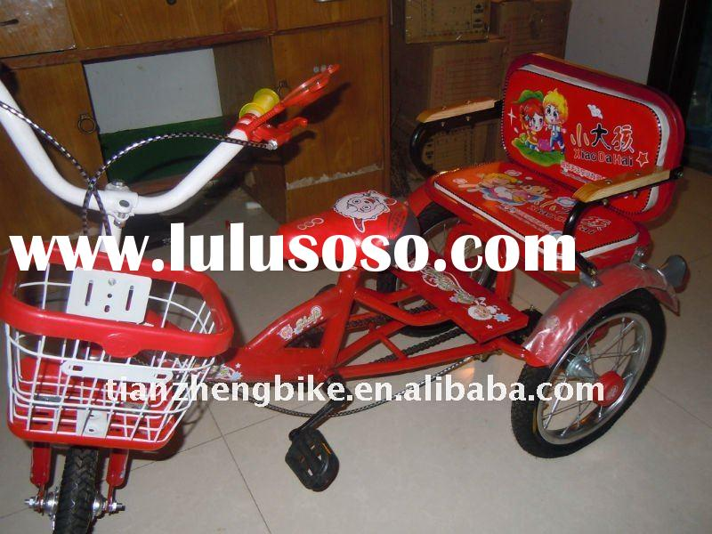 Red tricycle for disabled children with beautiful design