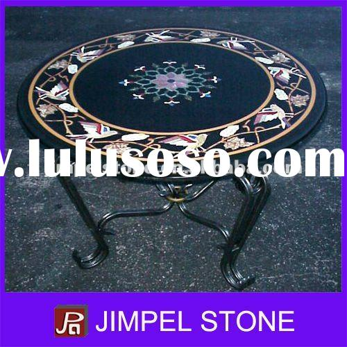 Round Marble Stone Inlay Table Top