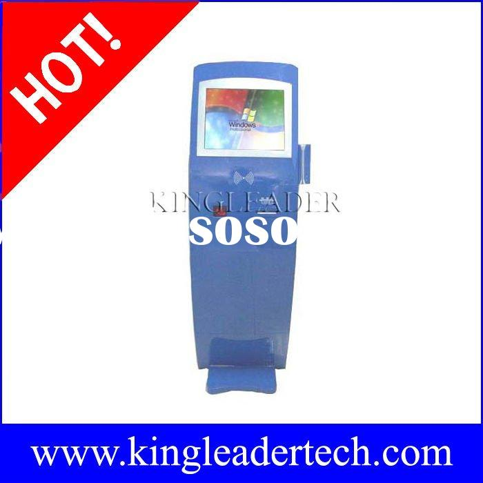 Self-service check-in kiosk with thermal printer,barcode scanner,contactless cardreader and magnetic