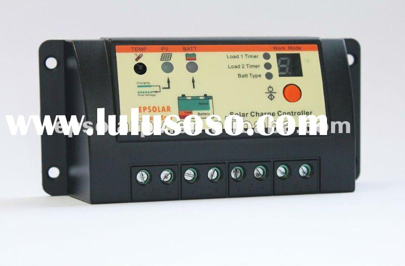Solar lighting controller LS1024R,10A,12/24V, lighting and time function