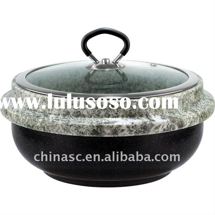 Stone cookware boiling