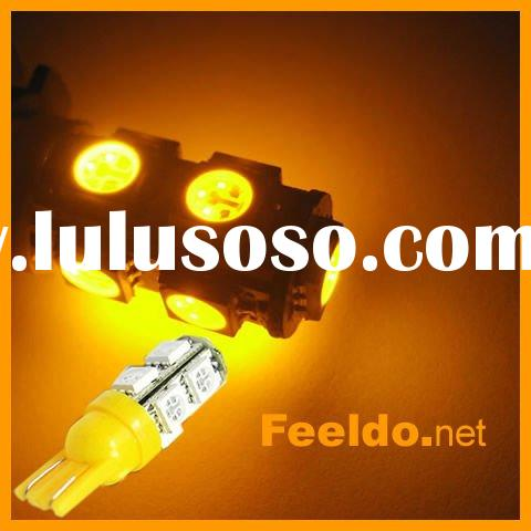 T10 194 168 W5W 9-SMD High Power LED Light Bulb Amber(FD-LED-T10-5050-9-A)