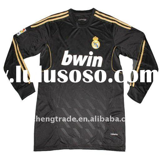 Thailand Quality Real Madrid Away Long Sleeve Jersey 2011-2012