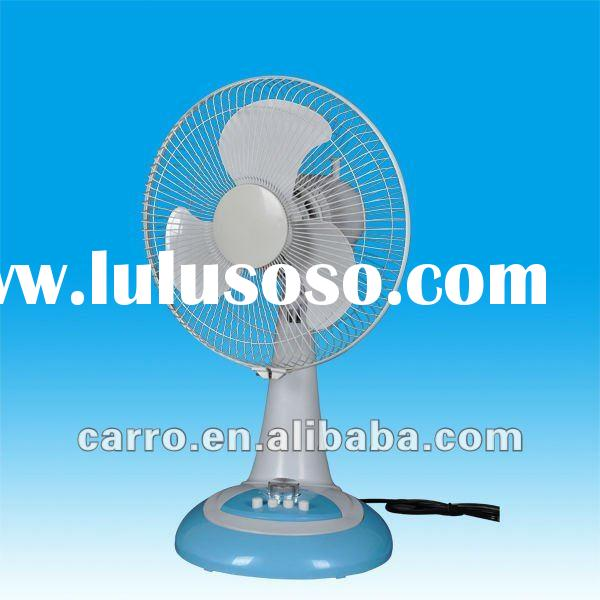 The hotsale 12inch high 1250RPM 12 volt dc small house fan