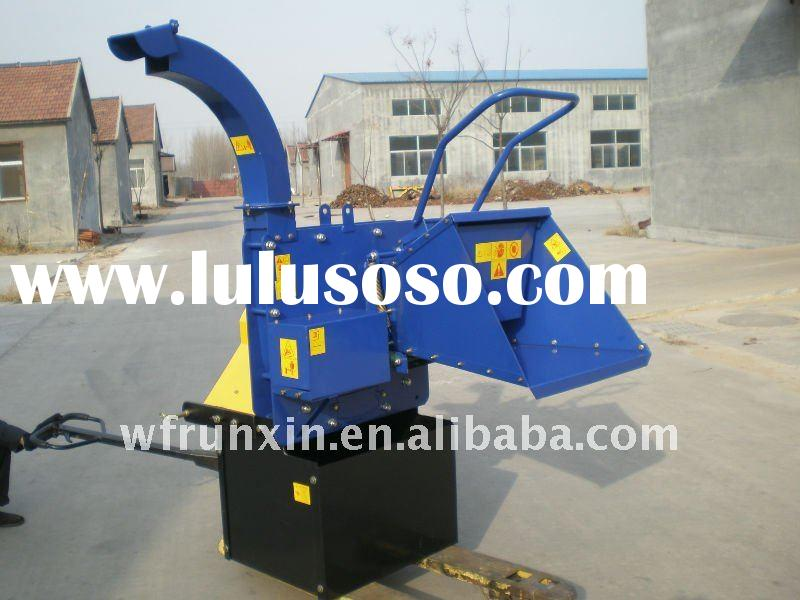 Tractor mounted PTO wood chippers with CE certificate