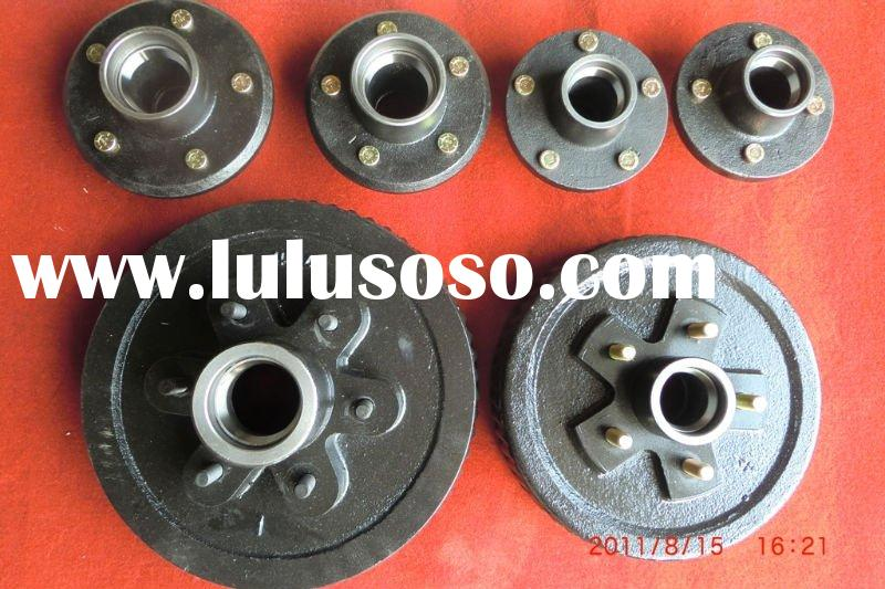 Trailer part for brake drum and hub