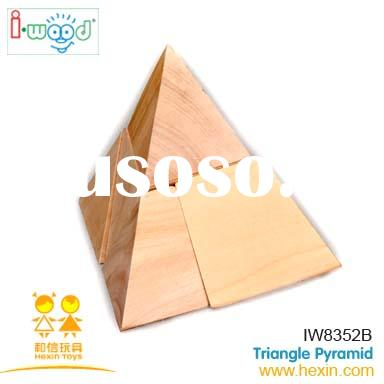 Triangle Pyramid ( wooden puzzle, intelligent toy, game puzzle )