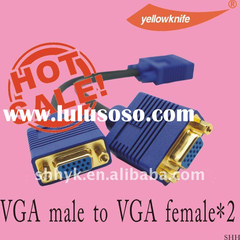 VGA male to 2 VGA female adapter on sell high speed good quality