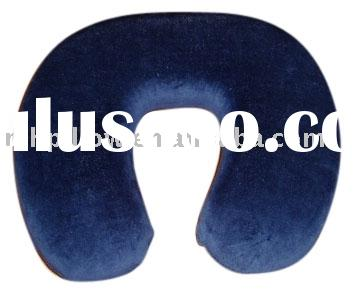Velour memory foam neck pillow