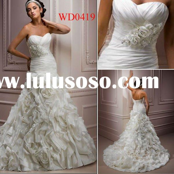 WD0419 Organza Ball Gown Desinger Floor-Length Indian Dresses