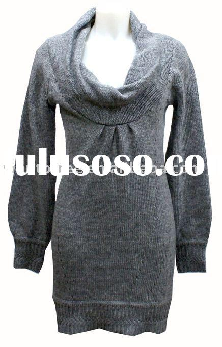 Women's knee length sweater