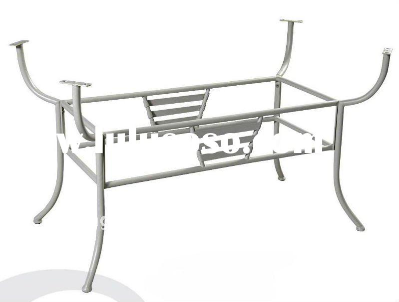 Wrought iron custom dining table base wrought iron custom for Wrought iron table legs bases