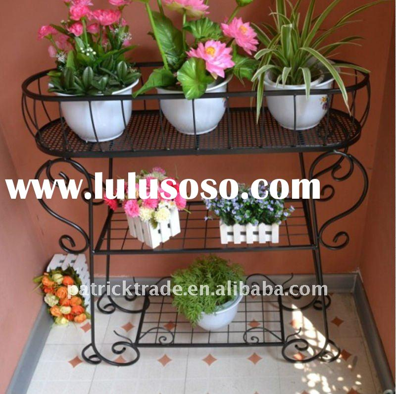 Wrought iron home decoration flower pot rack