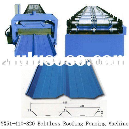 YX51-410-820 roof sheet roll forming machinery,and other profile metal roof machinery
