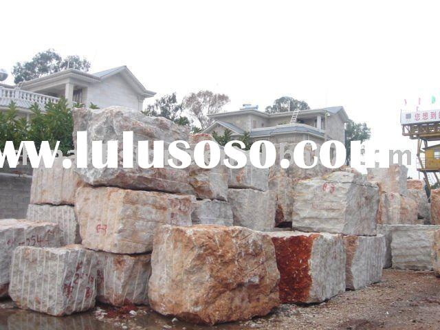 Yellow Marble Stone Block