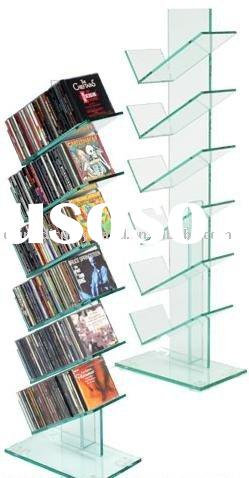 acrylic CD display, acrylic DVD holder, acrylic disc exhibitor
