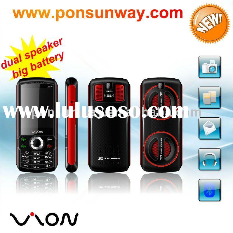 big battery dual big speaker mobile phone with mp3 mp4 wireless FM GSM Mobile Phone