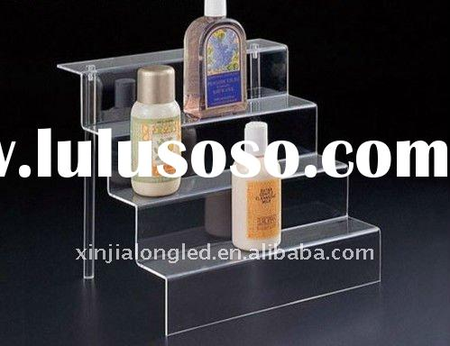 clear acrylic cosmetic display riser or acrylic cosmetic stand