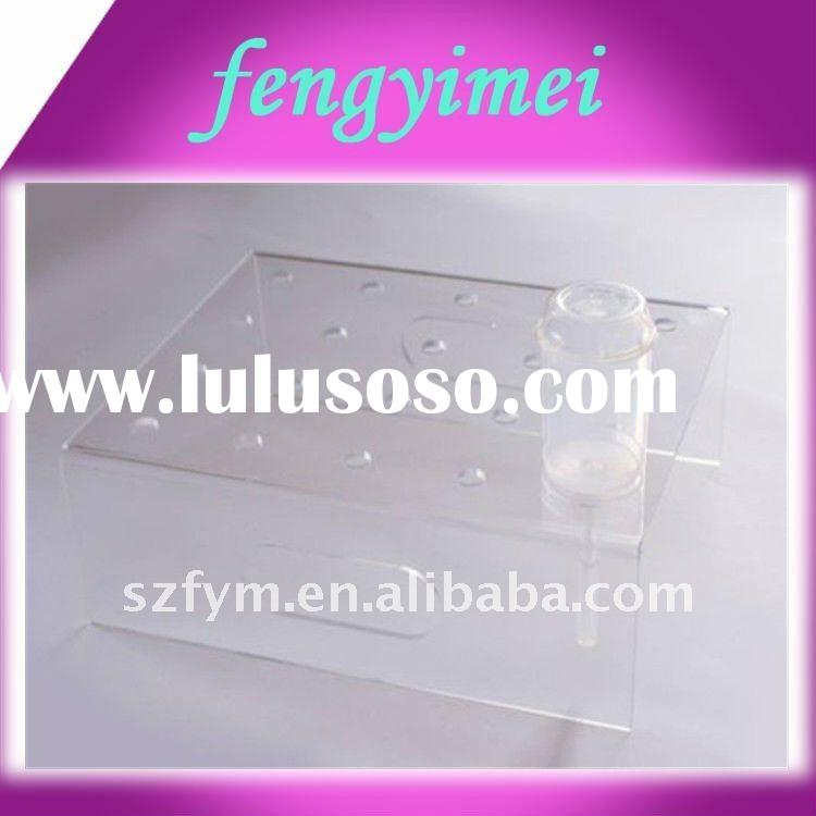 clear acrylic lollipop display stand/eco-friendly plexiglass candy display rack/perspex display stan