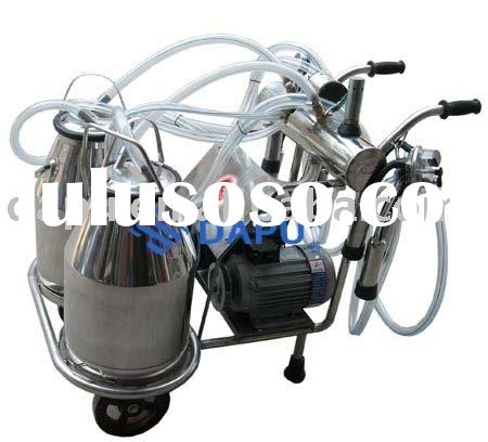 double -barrel piston type milking machine