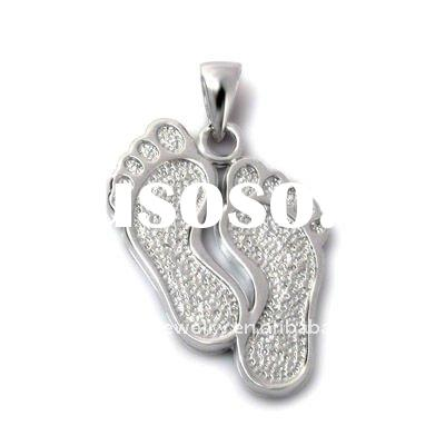 engravable jewelry /plain 925 sterling silver tag/logo pendant