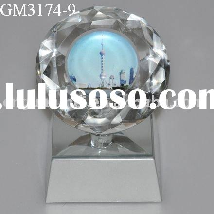 glass art and craft with LED light/tourists souvenir