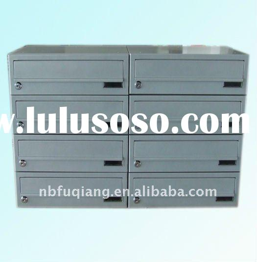 group mailbox, letter box, post box, combined, metal box, powder coating, with lock