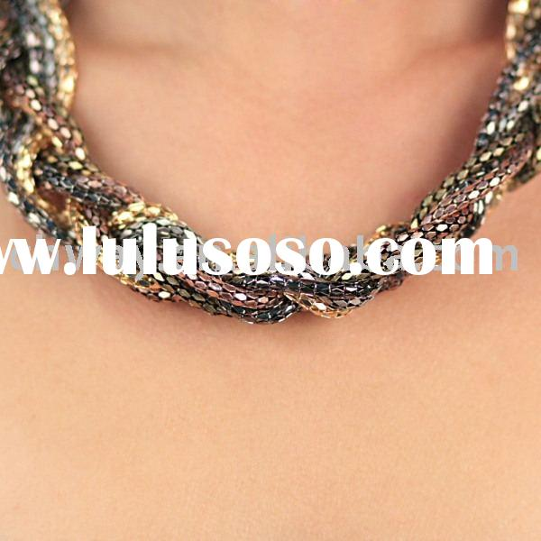hot sale snake necklace stainless steel and iron