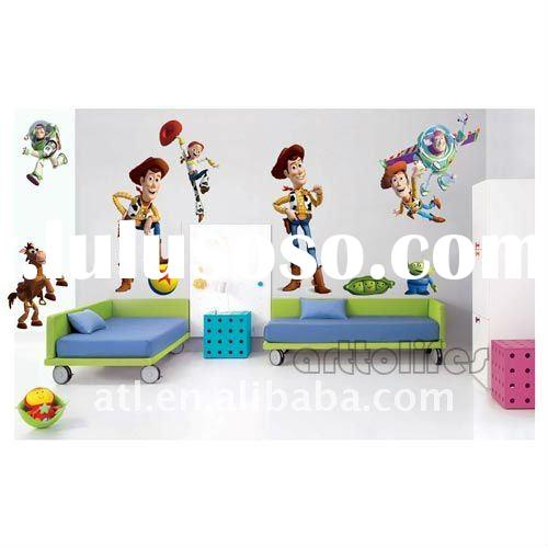 "huge ""toy story"" removable cartoon wall stickers,kids decal wall stickers"