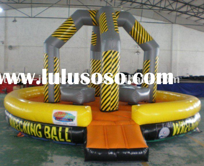 human wrecking ball, inflatable sport game , inflatable wrecking ball