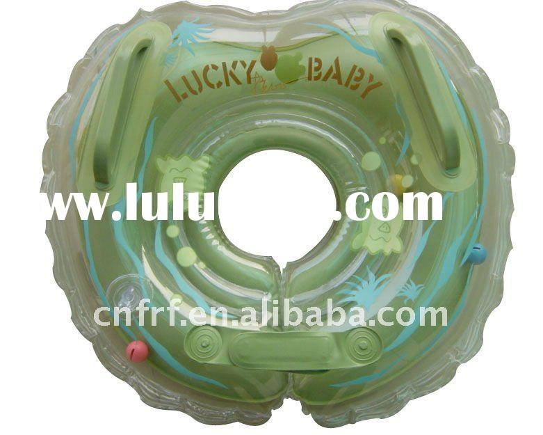inflatable baby neck collar floating ring, inflatable newborn baby swimming float, baby bath neck ri