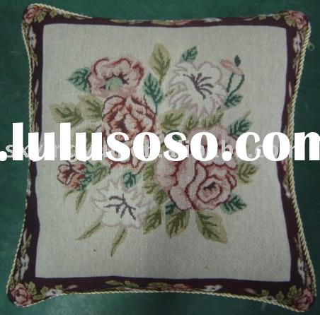 jacquard ployester and cotton cushion cover sofa cushion throw pillow chair cushion flower design cu