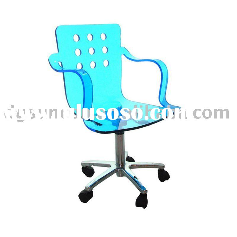 light blue acrylic chair