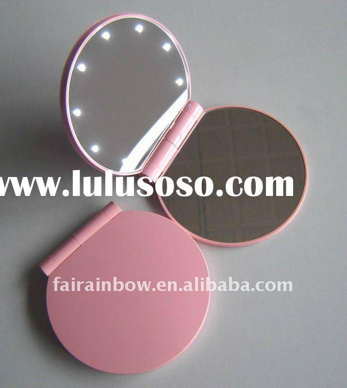 lighted compact makeup mirror