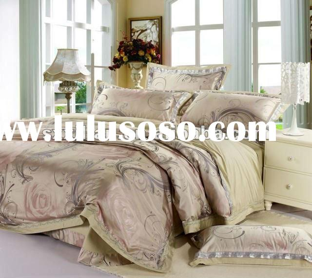 luxury 100%bamboo fiber jacquard flat sheet set/wedding bedding/duvet cover