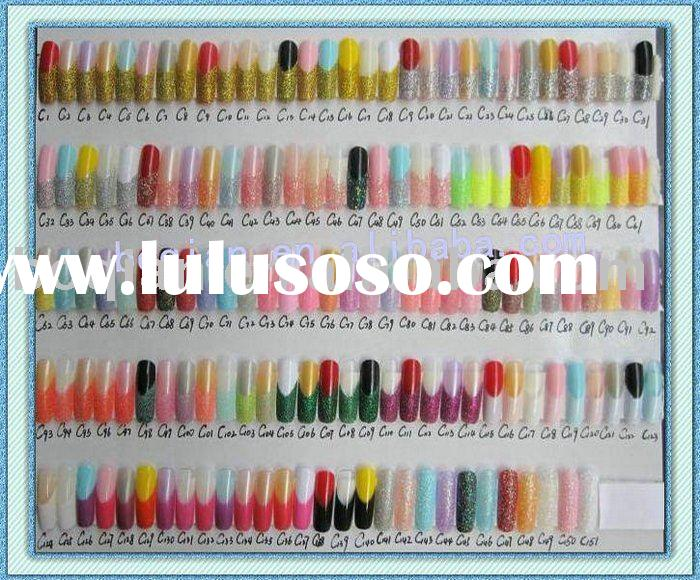 nail art tips/predesigned nail tips/different styles/glitter nail tips