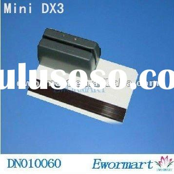 new-smallest-minidx3(mini123ex compatible)portable magnetic magstripe card reader Free shipping + Dr