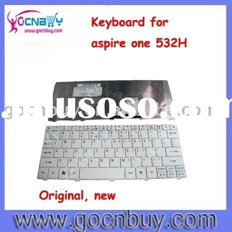 original laptop keyboard V111102BS1 for aspire one 532H WHITE