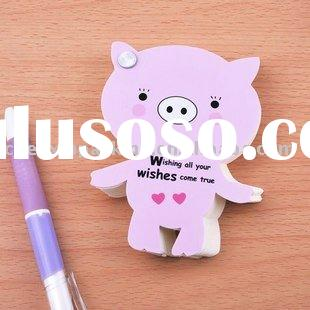 pig shaped memo pad/sticky note pad