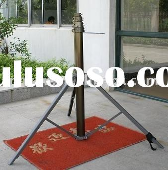 portable telescopic antenna masts with tripod and mobile lighting tower