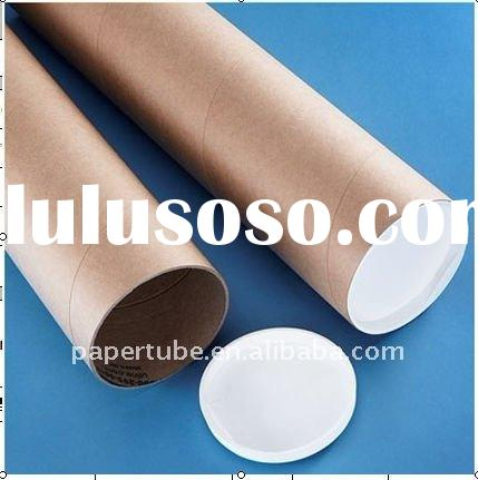 postal tube with plastic lid/cheap paper tube with plastic cap