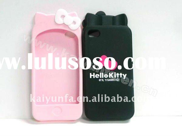 promotion silicone phone case for apple Hello Kitty case