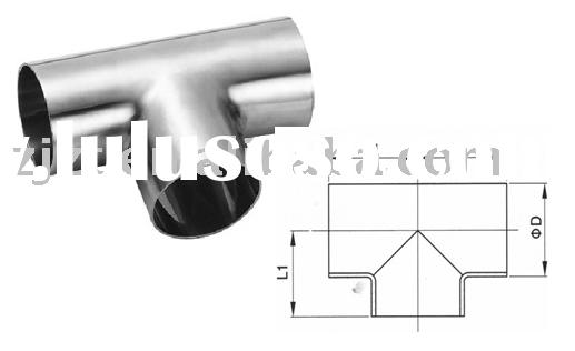 stainless steel pipe fitting,sanitary welded tee