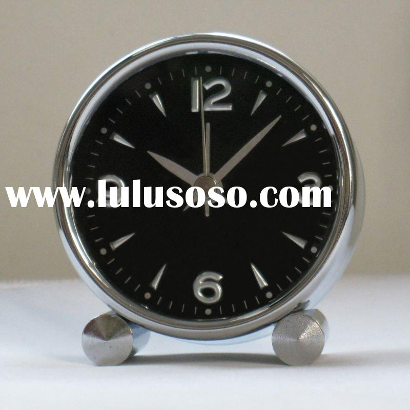 upmarket round shape quality metal desk clock
