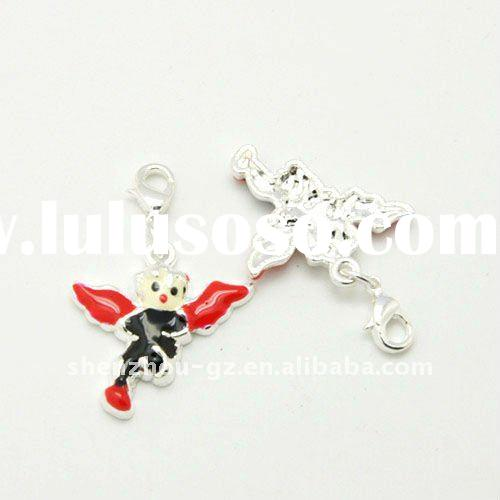 wholesale Jewelry accesories alloy pendant with lobster clasp,enamel dangle&pendant, red wing sh