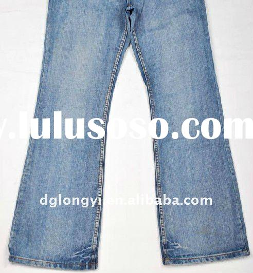 wholesale woman's fashion cotton denim jeans pants fabric 2012
