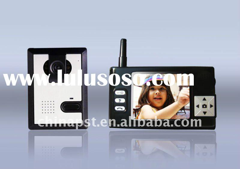 "wireless 3.5""Screen 2.4G video door phone wireless home intercom system"