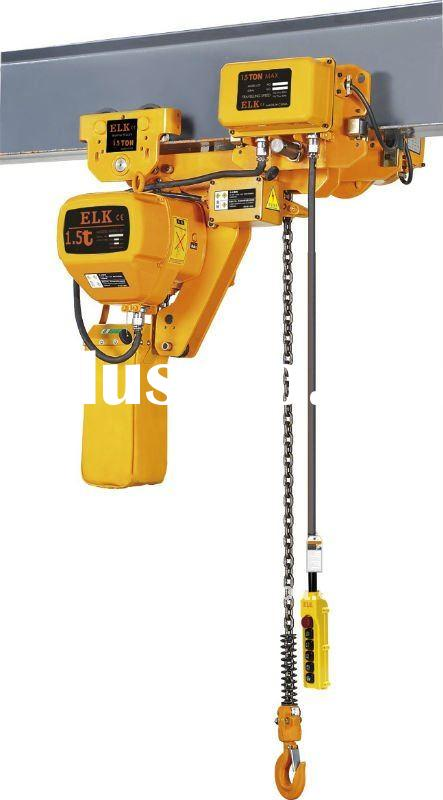 1.5 ton super-low lifting loop chain electric hoist